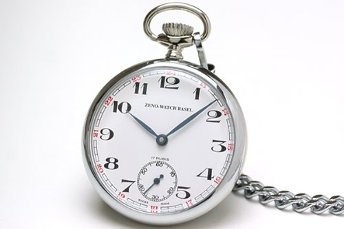 Zeno Pocket Watch Swiss Made White Dial 100-i2-num by Zeno (Image #2)