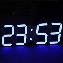 Nara Shopping Decorative Modern Digital Led Wall Clock Large Size (Blue)