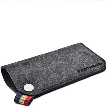 Portable Dust Resistance Card Storage Felt Slip Protective Scratch Proof Eyeglasses Soft Bag Beige