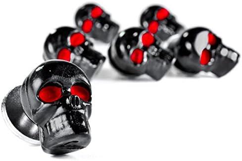 Krator Motorcycle 6 x Skull Black Bolts Custom Black Motorcycle Bolts used for License Plate bolts Windshield bolts /& any 6mm thread fits HONDA YAMAHA KAWASAKI SUZUKI HARLEY CRUISERS MOTORCYCLE