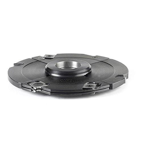 Amana Tool 61354 3-Piece Insert Carbide Adjustable Groove w/Scorer 150mm D x 4.0 to 15.5mm CH x 1-1/4 Bore Shaper Cutter