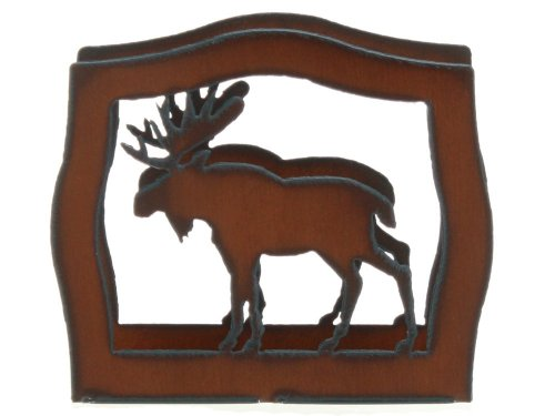 "Rustic Ironwerks Moose Napkin Holder 6.5"" By 6"" By 2"