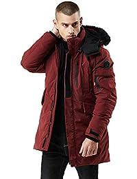 5e7450ea6d95 Men s Warm Parka Jacket Anorak Jacket Winter Coat with Detachable Hood  Faux-Fur Trim