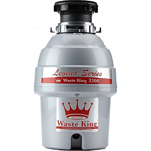 Waste King Legend Series 3/4 HP Garbage Disposal with Power Cord - (L-3300)