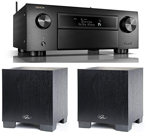 Denon AVR-X6500H 11.2 Channel A/V Receiver with HEOS and Qty: 2 Martin Logan Dynamo 300 8