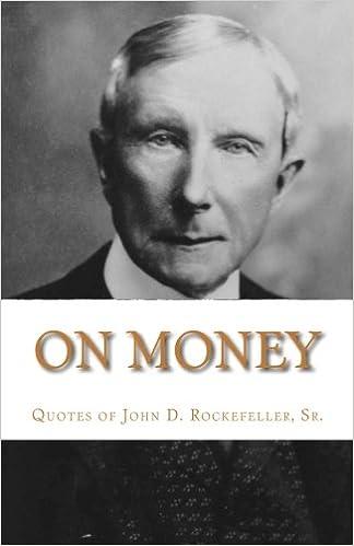 On Money The Quotes Of John D Rockefeller Sr Dr Michael Gesell
