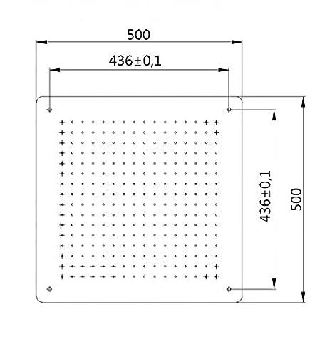 XXL-Regendusche Edelstahl-Deckenbrause DPG5005 superflach in Schwarz 50 x 50 cm Deckeneinbau