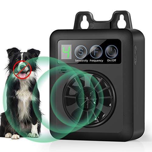 Anti Barking Device, Upgraded Mini Bark Control Device with Effective 4 Adjustable Sensitivity and Frequency Levels…
