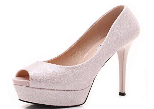 donna Primavera Di Scarpe Bocca da Tabella Pink Cm Pesce Scarpe GTVERNH A Di 13 Scarpe Sexy Eavq74w