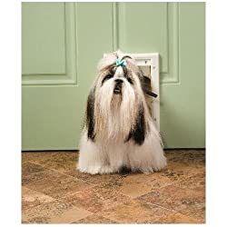 "7-5/8"" x 11-1/8"" Small White Plastic Pet Door Size: X-large"