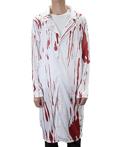 Halloween Costume Terror Nurse And Doctor Clothes With Blood Adult Costume by (Tower Of Terror Halloween Costume)