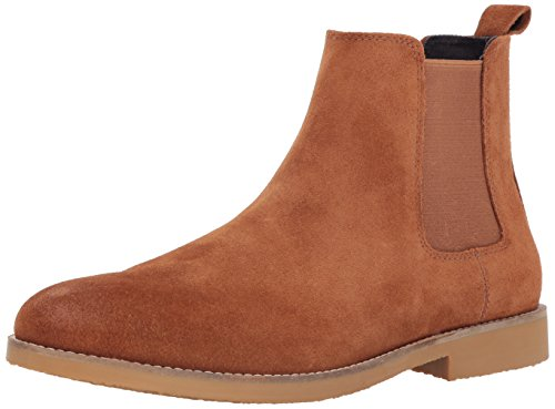 - Dr. Scholl's Shoes Men's Credence Chelsea Boot, tan Suede, 10.5 M US