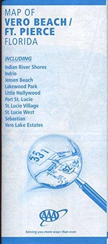 MAP OF VERO BEACH / FT. PIERCE FLORIDA /HUGE FOLDOUT /INCLUDING PORT ST. LUCIE /JENSEN BEACH++++