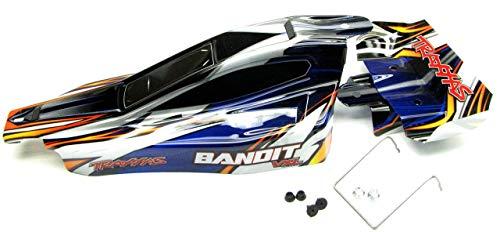 Traxxas Bandit VXL Body, Wing, Wire Mount (Blue Shell) - Wide Body Wing