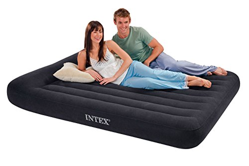 AIRBED AIR MATTRESS CLASSIC PILLOW REST WITH BUILT-IN PUMP PERFECT FOR TRAVEL OR FOR VISITORS STAYING IN YOUR HOME. (Intex Air Bed Patch Repair Kit compare prices)