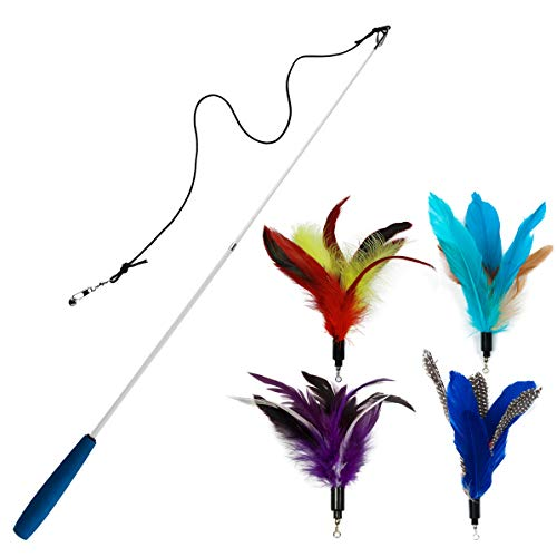 EcoCity Cat Toys - Feather Cat Teaser Toys 2