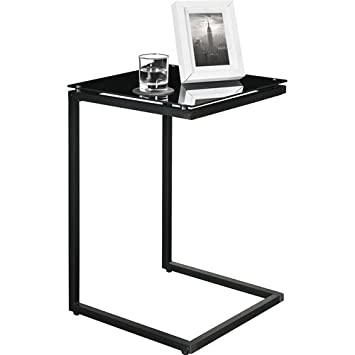 official photos 40809 f524e Sturdy Snack Table with Glass Top, Black. Tv Tray Tables Are Versatile, Use  As A Laptop Table, Snack Table or TV Tray Table. This Modern Table Will ...