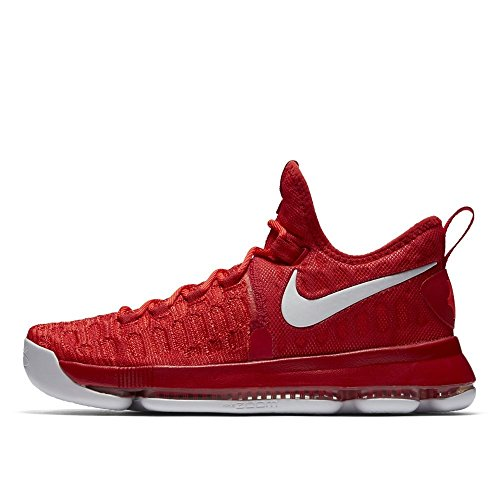 (Nike Zoom KD 9 Mens Basketball Trainers 843392 Sneakers Shoes (UK 9 US 10 EU 44, University red White 611))