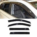 VIOJI 4pcs Dark Smoke Outside Mount Style Sun Rain Guard Vent Shade Window Visors Fit 11-15 Kia Sorento