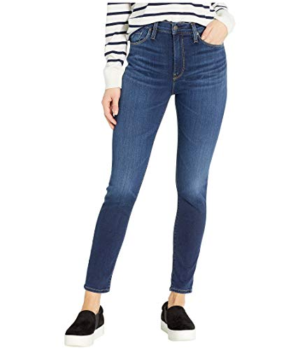 Hudson Jeans Women's Barbara HIGH Waist Super Skinny Ankle 5 Pocket Jean, Baltic, 29