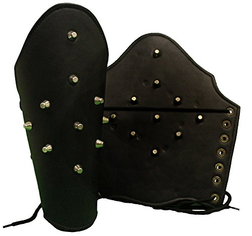 RedSkyTrader Mens Leather Medieval Armor Arm Guards One S...