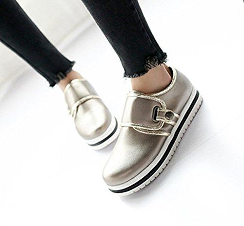 Showhow Sneakers Slip-on Casual Donna Tonda In Oro Chiaro