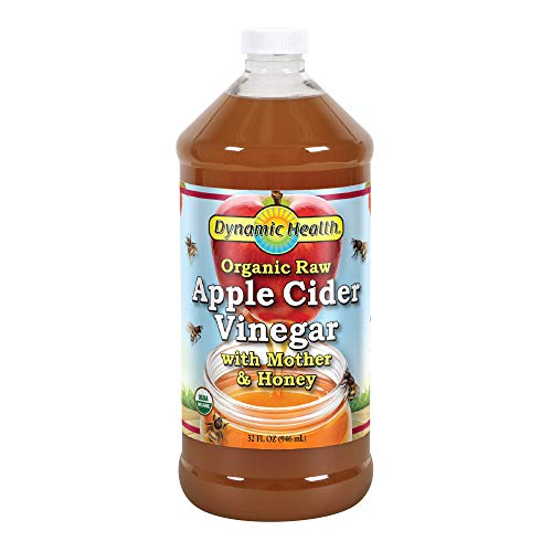 - Dynamic Health Organic Raw Apple Cider Vinegar with Mother & Honey | Vegetarian, Gluten Free, Non-GMO, No Artificial Flavors | 32 FL OZ, Btl-Plastic