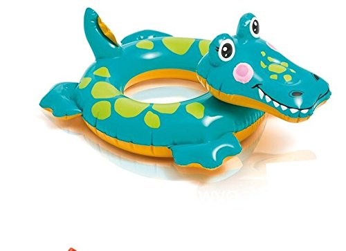 Animals Swim Rings Thickened Inflation Deluxe for Kids (Crocodile, 28