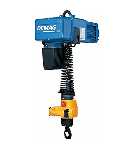 Demag 93204046 Manulift Electric Chain Hoist, 275 lbs Capacity, 14' Lift Height, 64/16 FPM Lift Speed, 230V