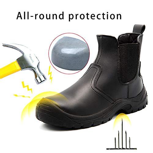 Chnhira Bottes Securité Protection Chaussure Homme Femmes Securite Noir De Travail L5ASc34Rjq