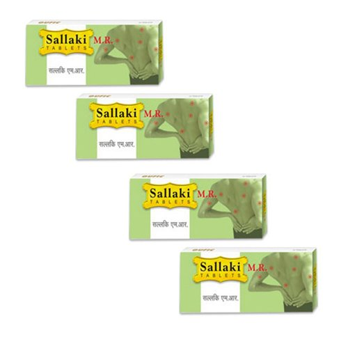 4 x Gufic Biosciences - Sallaki M.R Tablets - (4 x 10 Tabs) (Best Muscle Relaxant For Low Back Pain)