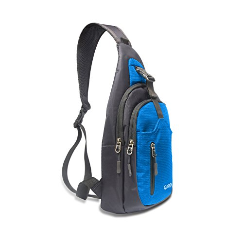 "CARQI Sling Bag Waterproof Shoulder Backpack Crossbody Purse for Hiking Camping (Small-8""X4""X15"", skyblue)"