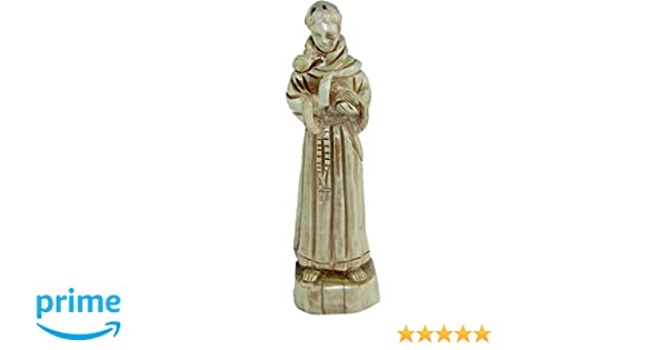 Holy Land Market Saint Francis Of Assisi Carved In Olive Wood Figure Statue 84 Inches