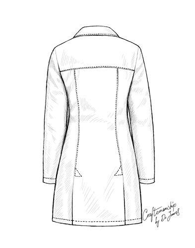 dr james stylish tailored fit women s lab coat 34 inch length Rain Coat
