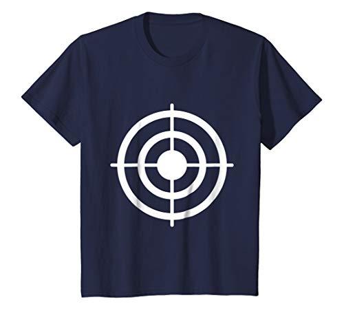 Kids Funny Bullseye Target Halloween Costume T-Shirt 4 Navy