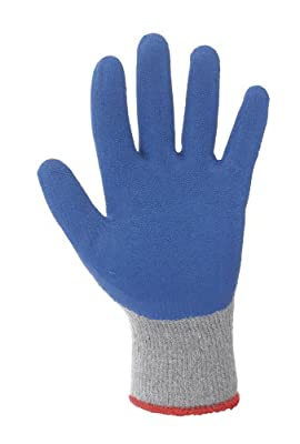 Lakeland 7-1506 SpiderGrip Polyester Cotton Latex Dipped Glove, Work, Cut Resistant,Grey/Blue (Case of 24)