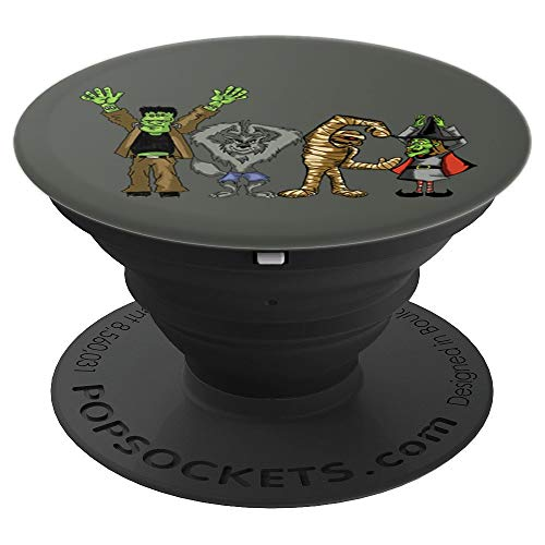 Frankenstein, Werewolf, Mummy, Witch Monster Mash Dance - PopSockets Grip and Stand for Phones and Tablets -