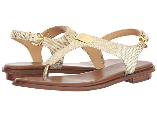 Michael Michael Kors Womens Plate Thong Open Toe Casual, Pale Gold, Size 6.5