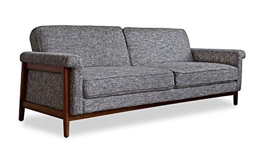 Edloe Finch SL01 Mid-Century Modern Futon Sofa Bed Sleeper, Grey ()