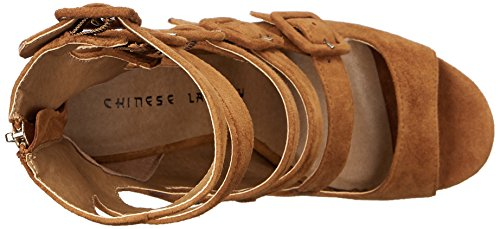 Twilight Camel Suede Laundry Dress Women's Chinese Sandal OXYpqExB