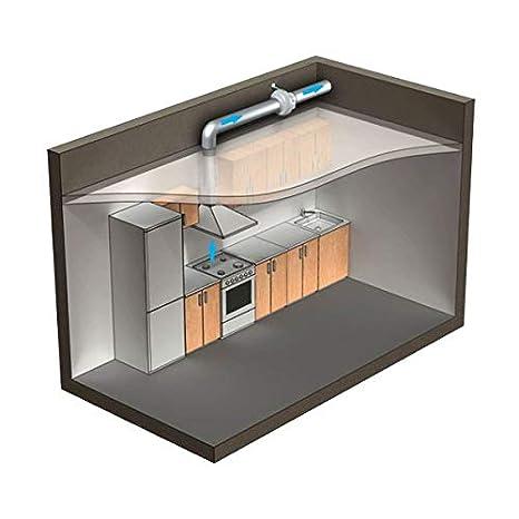 Blauberg Reino Unido centro-125/Blauberg centro centr/ífugo en l/ínea ventilador de conducto 125/mm 1/gris