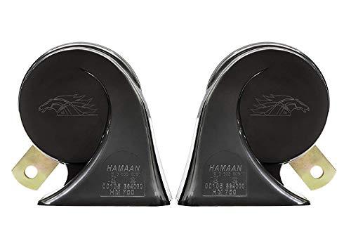 Hamaan HMTH-700 Fanfare Trumpet Car Horn- Set of 2 (12V, 500/400Hz, 120dB)