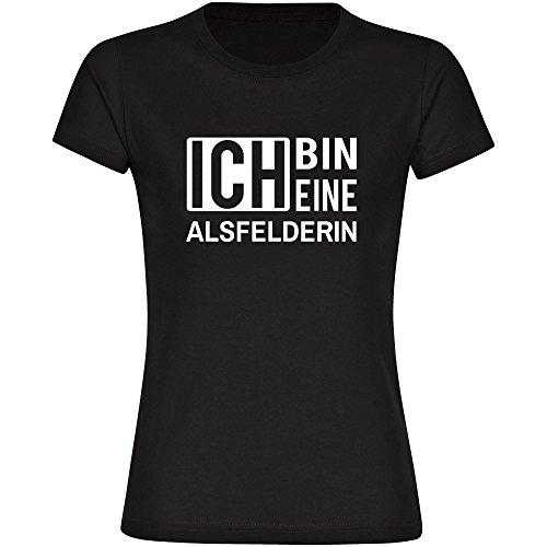 T-Shirt ich bin eine Alsfelderin schwarz Damen Gr. S bis 2XL
