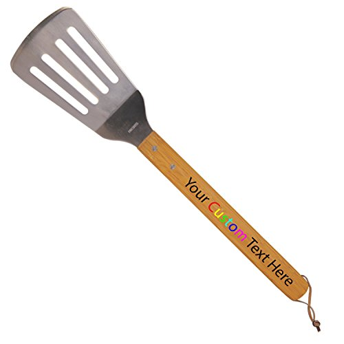- Hat Shark Customized Printed in Full Color Custom Personalized Bamboo Barbeque Spatula -