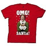 Ripple Junction Elf OMG Santa Adult T-Shirt Medium Red