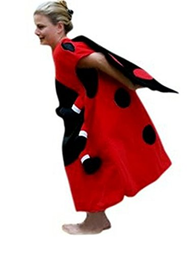 Fantasy World Ladybug Costume Halloween f. Men and Women, Size: L/ 12-14, (Good Costume Ideas For Guys)
