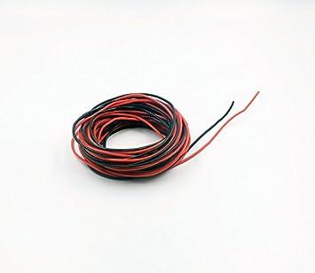 hobbyunlimited 22-gauge Silikon Draht 30 Füße [4,6 m schwarz und 15 ...