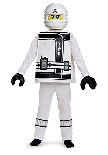 Zane LEGO Ninjago Movie Deluxe Costume, White, Medium