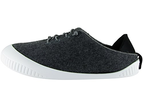 Dualyz Shoe Dark White Sole with Unisex Wool Removable Grey Fit 100 Slipper rqwXrTA