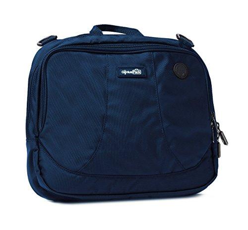 Genius Pack High Altitude Flight Bag -Patented Design Wraps Around Airplane Seat-Back Tray - Genius Professional Headphone